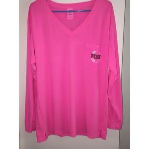 Pink Long Sleeves Top, Large
